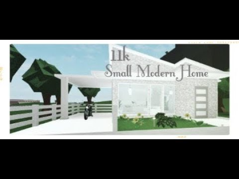 Bloxburg Speedbuild Cozy Small Modern House 11k Youtube