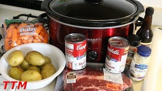 How to Make a Pot Roast in the Slow Cooker~Easy Crock Pot Beef Stew
