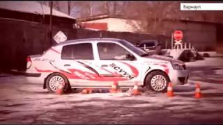 Контраварийное вождение, урок 3. Заносы на дорогах 2015. Автошкола БЦВВМ Барнаул