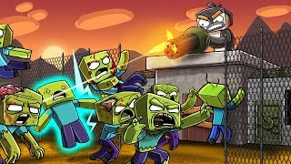 Minecraft - ZOMBIE MILITARY BASE DEFENSE! (Military vs Zombies)