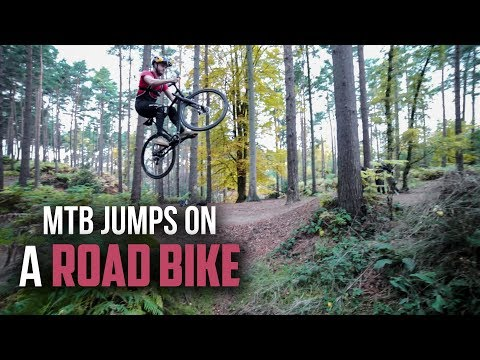 Road Bike VS Downhill MTB Jumps!