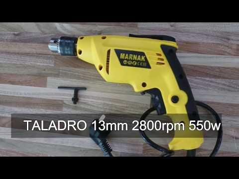 """Taladro Atornillador 1/2"""" 13mm con reversa y velocidad variable 550W 2800RPM - El Sitio de Compras"""