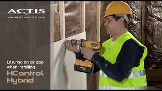 Wall - Ensuring an air gap when installing plaster board & HCONTROL HYBRID