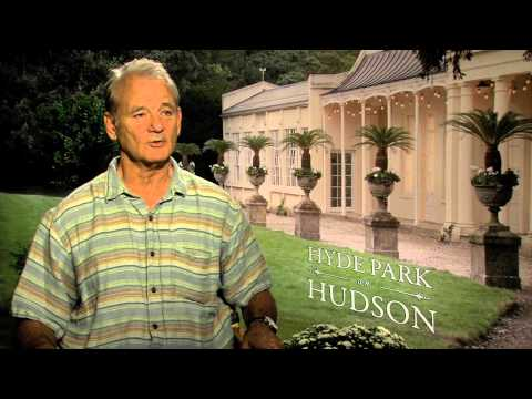 Bill Murray interview about Ghostbusters, Stripes - Cleans reporters suit!
