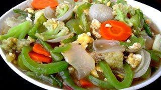 চাইনিজ ভেজিটেবল রান্না - Bangladeshi Chinese Vegetable - Bangladeshi Chinese Ranna Recipe in Bangla