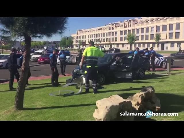 Accidente tras una persecución policial por Salamanca