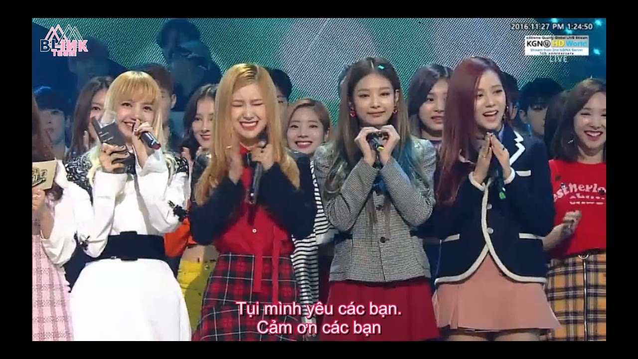 Vietsub 161127 Blackpink Playing With Fire Sbs Inkigayo No 1 Of The Week