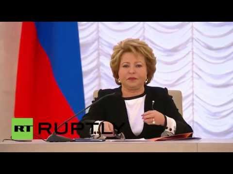 Russia: Blocking IS' financing key to defeating 'monster' of 'terrorism' - Matviyenko