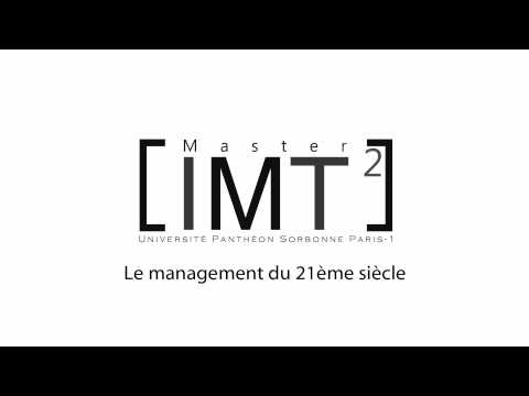 Master Innovation et Management des Technologies - Paris1 Sorbonne