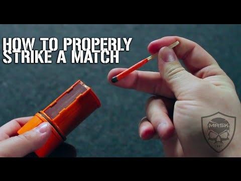 How To Properly Strike A Match | Stormproof Matches