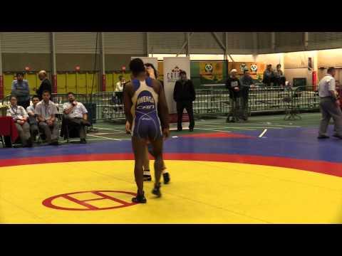 2014 Senior Greco-Roman National Championships: 59 kg Jason Wass vs. Promise Mwenga