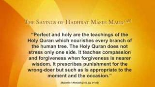 Masih Maud Day - The Teachings of the Holy Qur'an