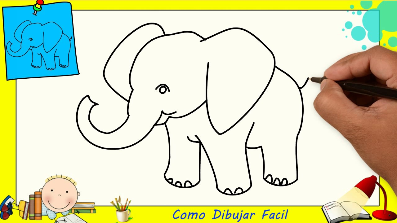 Dibujos Para Colorear De Elefantes Infantiles: Dibujo Colorear Dibujos De Elefantes Facil