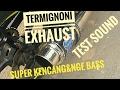 019 Test Sound Knalpot Termignoni Satria F150 Kayak 2 cylinder Cbr250rr