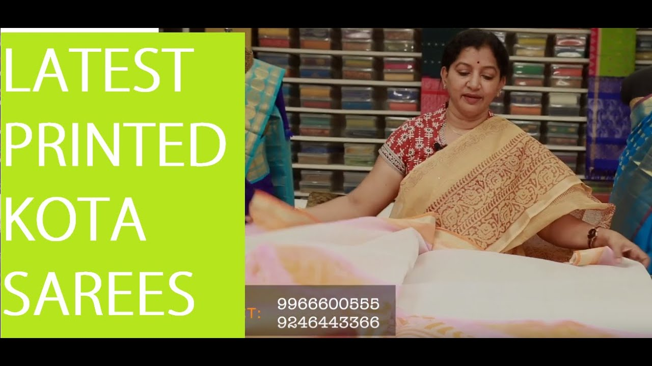 Latest Printed Kota Sarees Gayathri Reddy Designer Studio Youtube
