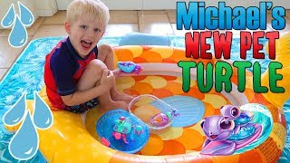 Indoor Pool Party with My New Pet Turtles!