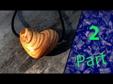 diy wood jewelry necklace heart made of olive wood nakit P2