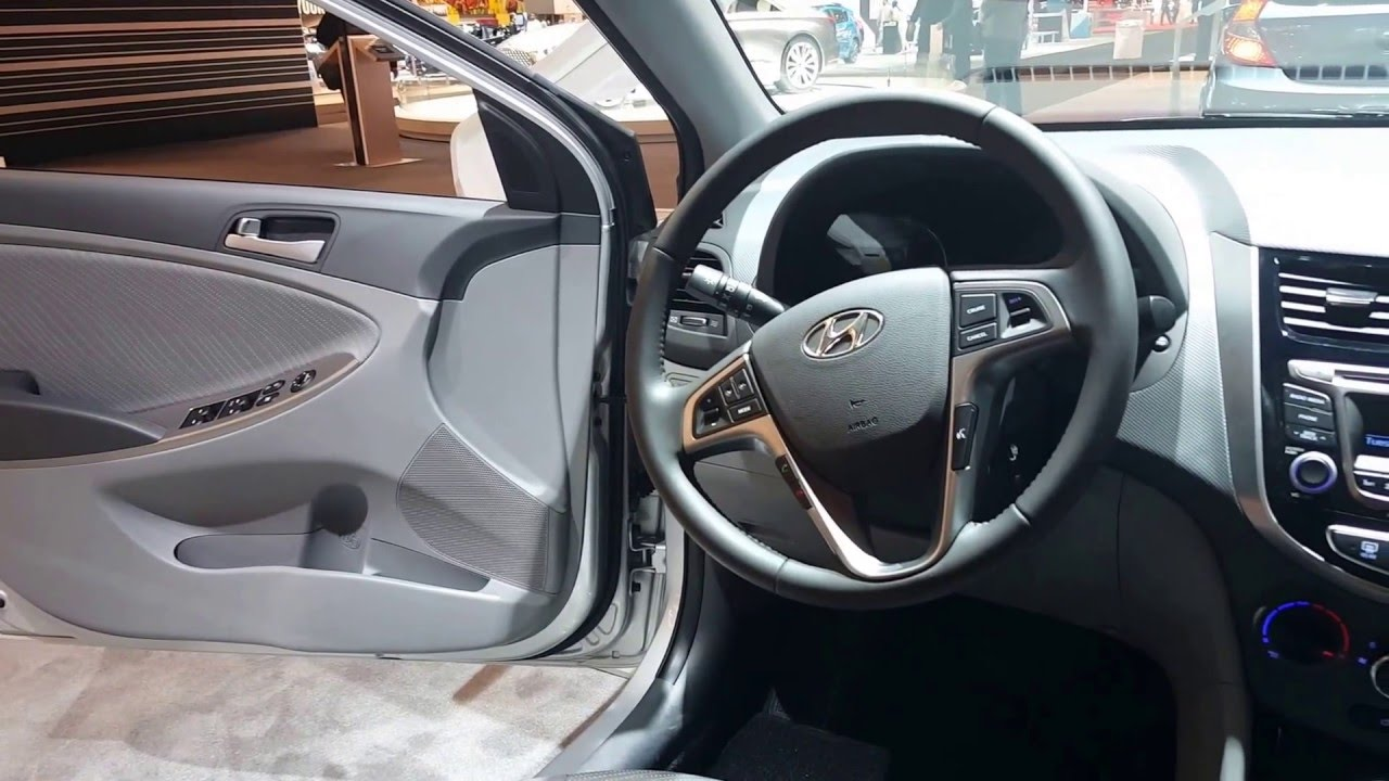 2016 Hyundai Accent Sedan Interior 2016 Chicago Auto Show Youtube