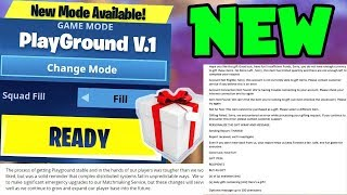 NEW Fortnite Update Bring Playground LTM BACK & GIFTING Feature RELEASE!! (Fortnite Season 5 Update)