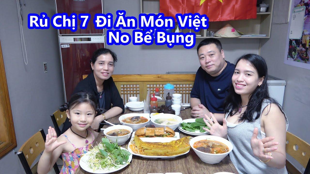 Cả Nhà Đi Ăn Bún Riêu Bánh Xèo  Bánh Mì Bún Lạnh Ngày Mưa Gió [Cuộc Sống Hàn Quốc]