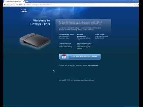 How To Configure Cisco Linksys E1200 Router Hindi