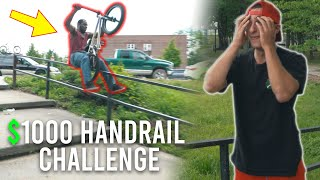 $1000 Long Handrail Challenge! (Part 2)