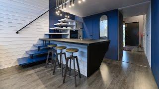 KODA Loft Extended (custom blue interior) showroom walkthrough in Tallinn, Estonia.