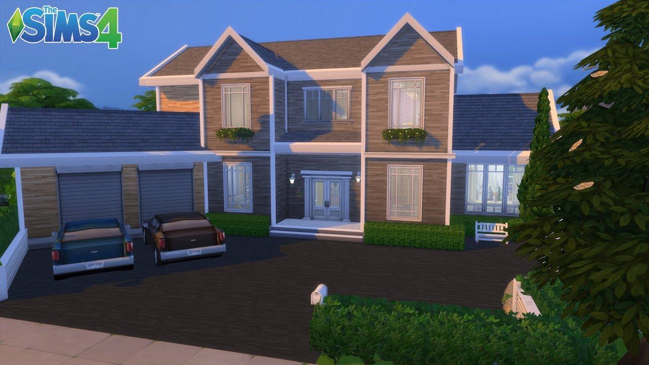 les sims 4 maison familiale simple sans cc youtube