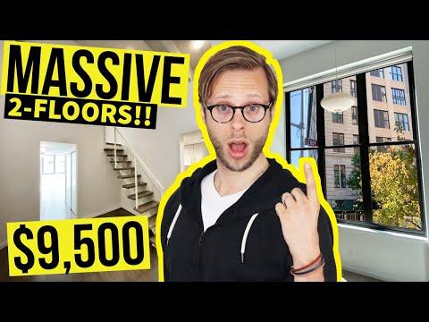 STUNNING $9500 2-FLOOR Manhattan DUPLEX | NYC Apartment Tour