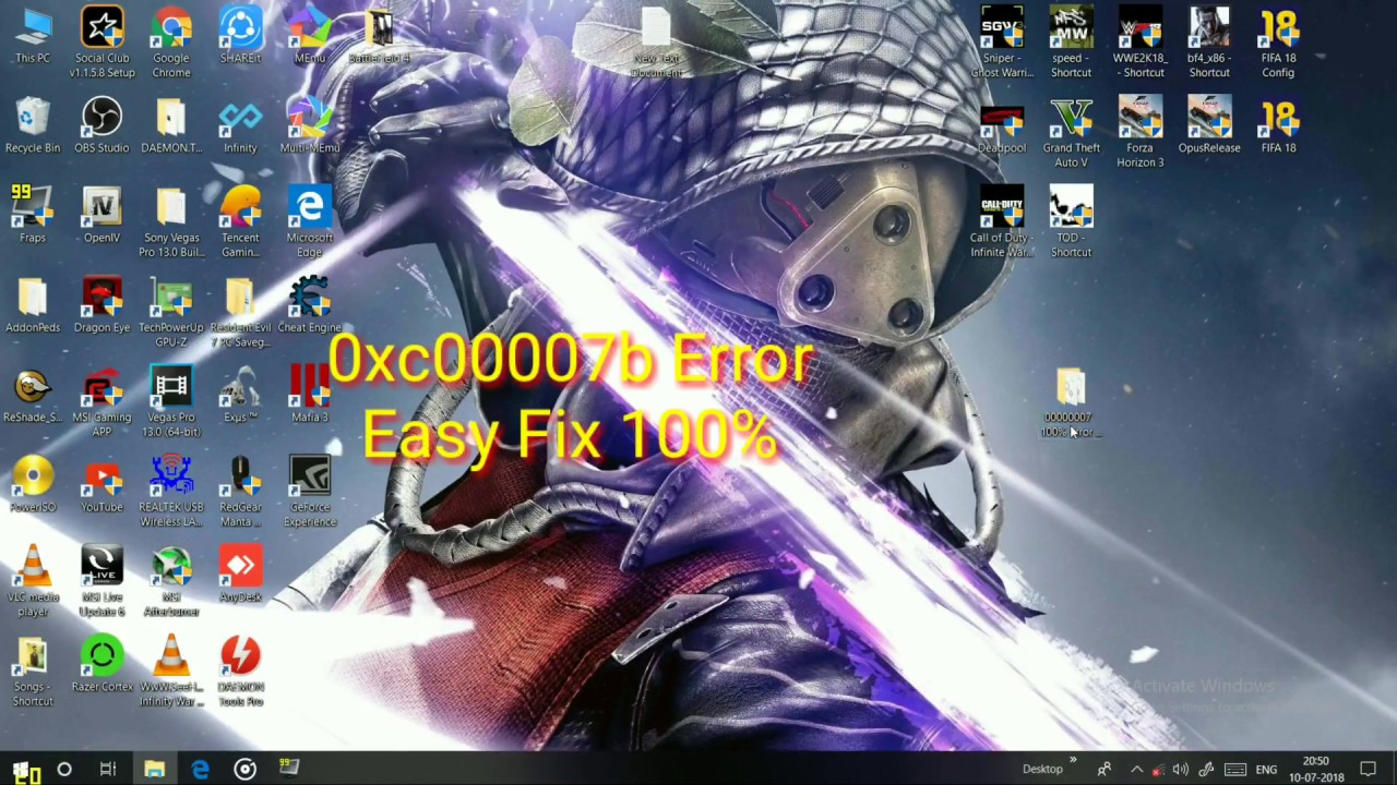 Easy Fix Error 0xc000007b Application Was Unable To Start