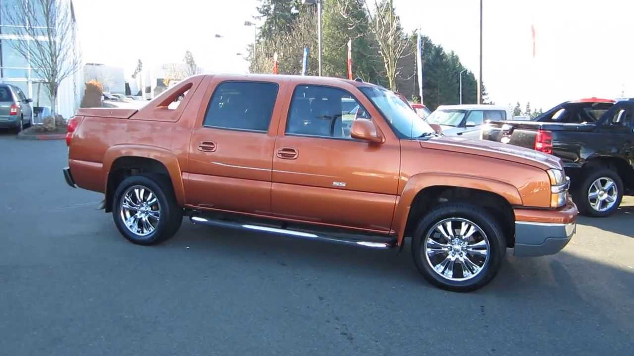2004 chevrolet avalanche sunburst orange metallic stock m1407761 walk around youtube. Black Bedroom Furniture Sets. Home Design Ideas