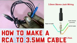 HOW TO MAKE A RCA TO 3.5MM CABLE