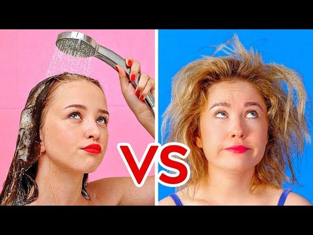 مشاكل الشعر القصير مقابل الشعر الطويل || مواقف مضحكة ومحرجة من صنع 123Go!
