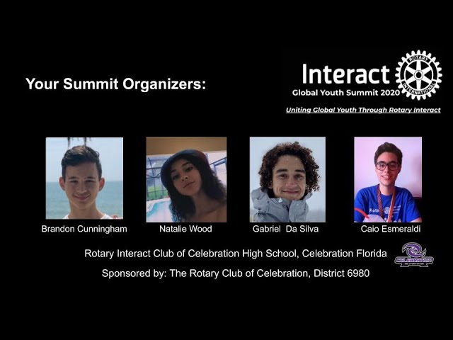 Rotary Interact Global Youth Summit 2020 - Celebration HS Interact Cub