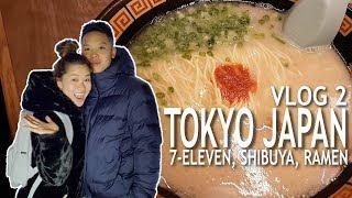 JAPAN VLOG 2   7-ELEVEN, SHIBUYA, RAMEN!