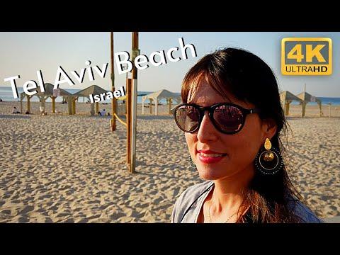 Tel Aviv Beach 4k Promenade Israel