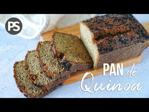 PAN DE QUINOA   | 4 INGREDIENTES -SIN HUEVO, SIN GLUTEN - ( VEG)