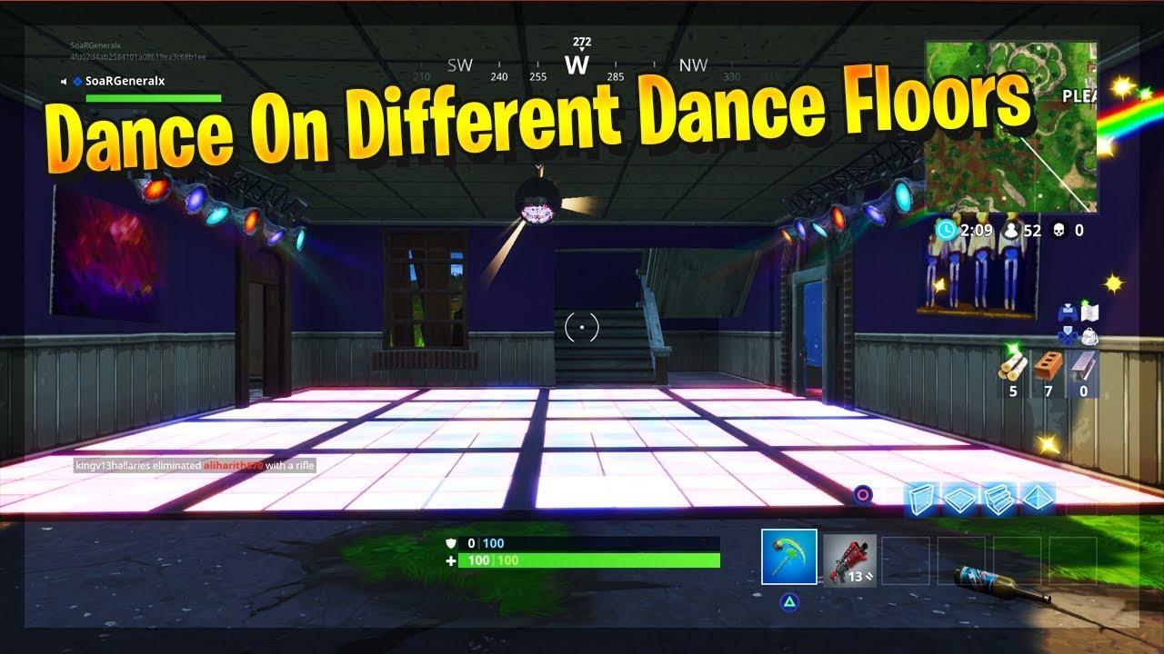 Dance On Different Dance Floors Fortnite Battle Royale Week 8