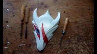 Blood Moon Talon Mask   Hand Carving