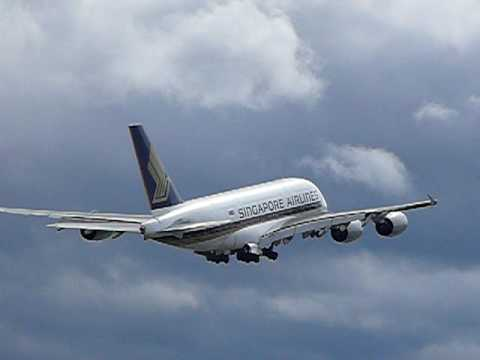 Singapore Airlines Airbus A380 First Commercial Flight in Zurich