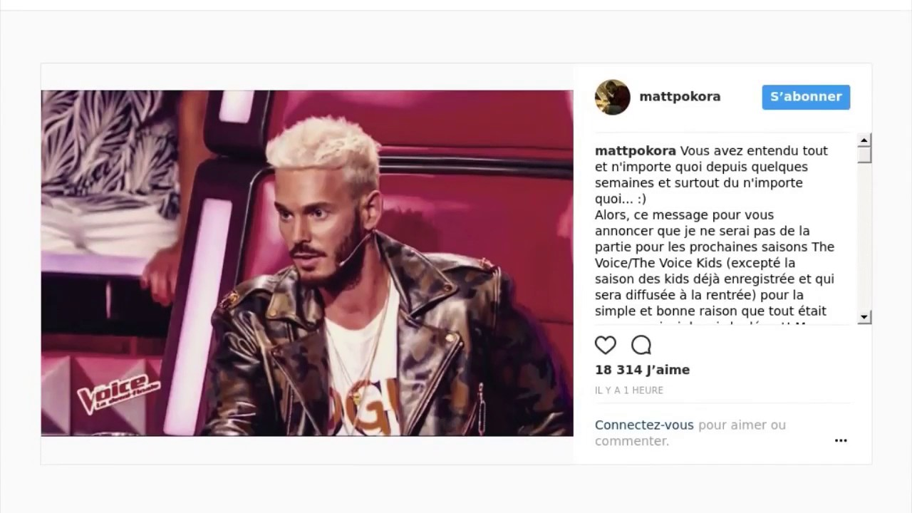 M pokora claque la porte de the voice youtube for Porte qui claque