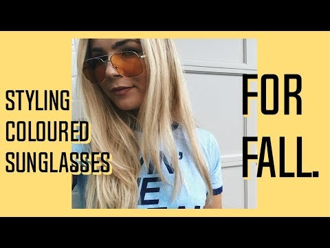How I Style Colourful Sunglasses for Fall! - MarsQuest, Gigi Hadid Vogue Eyeware & MORE!
