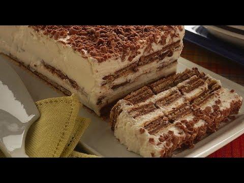 Ricetta Wafer Dolci.Torta Fresca Di Wafer Senza Cottura Maria Grazia Youtube