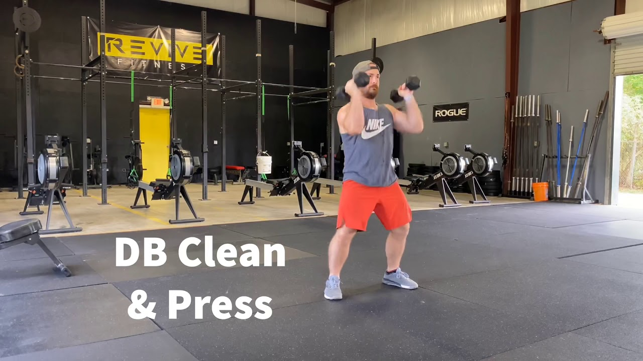 Demo: Dumbbell Hang Clean and Press - YouTube