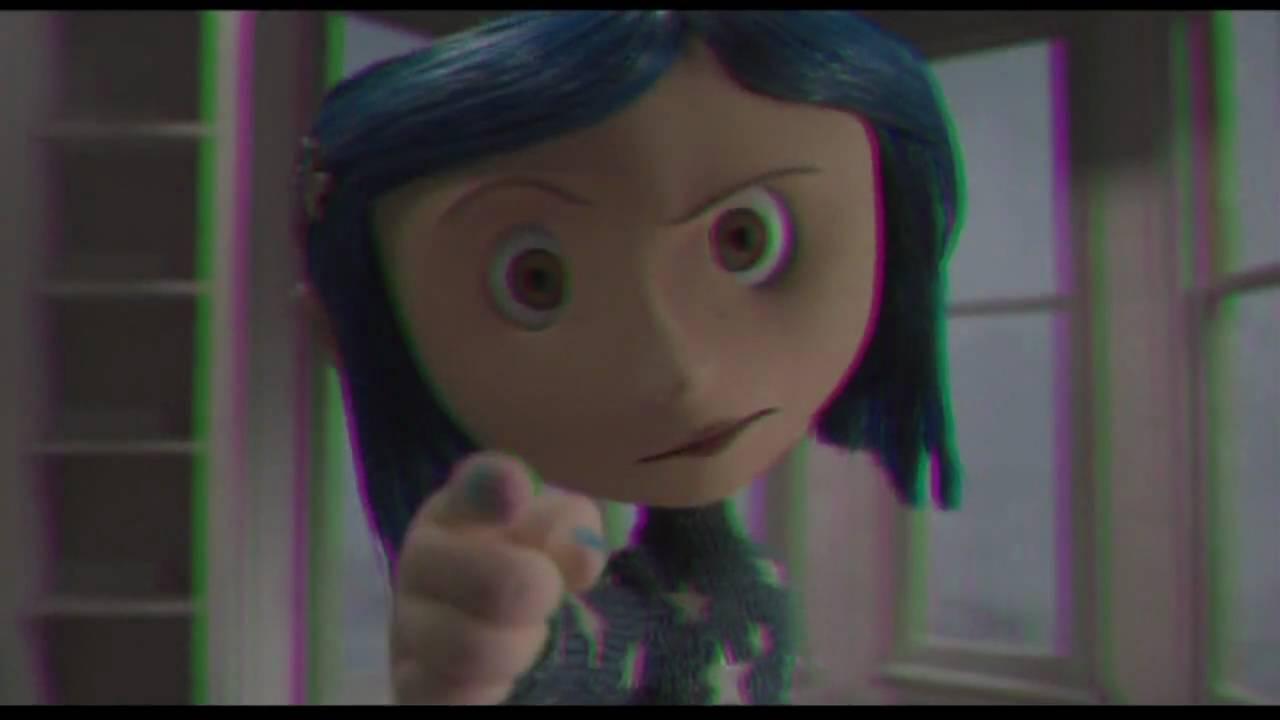 Coraline Y La Puerta Secreta Trailer Latino 3d Lentes Verdemagenta 720p Hd