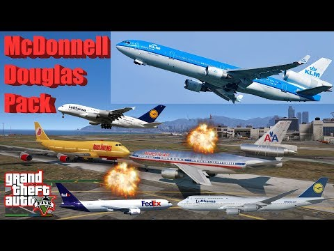GTA V: McDonnell Douglas DC-10-30 Freighter AirPlane Best Extreme Longest Crash Compilation
