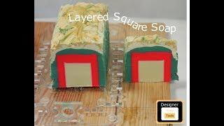 Cold Process Soap - Layered Square Soap