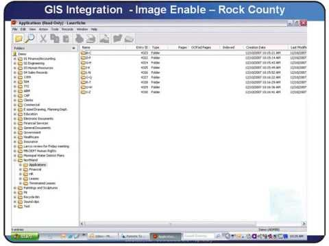 Laserfiche Document Management GIS Integration - Rock County Minnesota