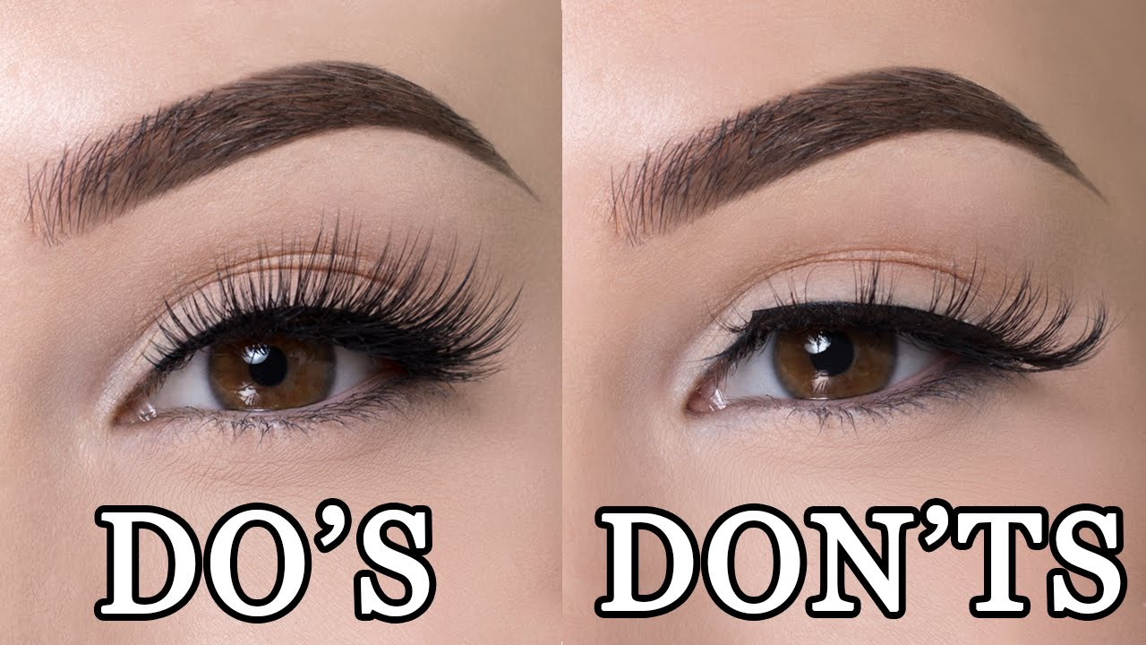 ca21fdd6a99 FALSE LASHES DO'S & DON'TS - YouTube