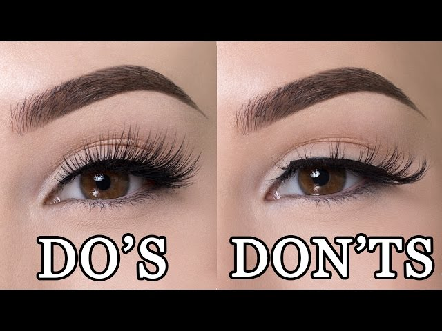 These Are Must Know Rules For Wearing False Lashes Tiphero